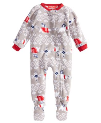 Matching Baby Polar Bear Footed Pajamas, Created For Macy's