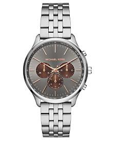 Michael Kors Men's Chronograph Sutter Stainless Steel Bracelet Watch 42mm