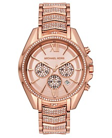 Women's Chronograph Whitney Rose Gold-Tone Stainless Steel Bracelet Watch 45mm