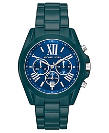 Women's Chronograph Bradshaw Teal Stainless Steel Bracelet Watch 43mm