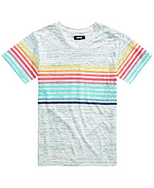 Univibe Big Boys Palermo Stripe V-Neck T-Shirt