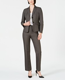 Le Suit Petite Two-Button Pantsuit