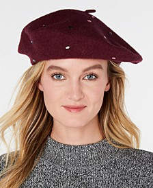 INC Jewel-Embellished Beret, Created for Macy's