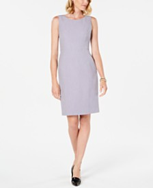Kasper Petite Crepe Sheath Dress