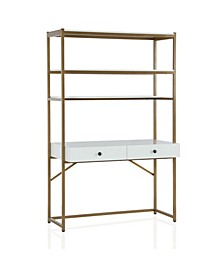 Cosmo living Billie Metal Desk Etagere