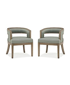 Hershall Rounded Back Accent Chair, 2-Pack