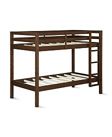 Dorel Living Dover Twin Over Twin Bunk Bed
