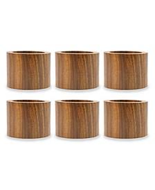 Wood Band Napkin Ring, Set of 6