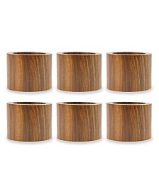 Design Imports Wood Band Napkin Ring, Set of 6