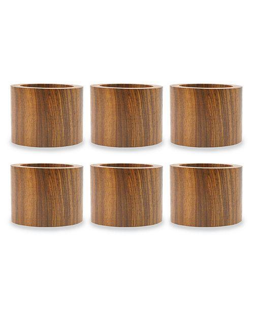 Design Import Wood Band Napkin Ring, Set of 6