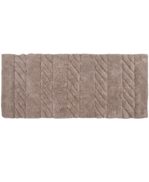 "Image of Affinity Linens Soft Cotton Anti Skid Cable Weave Oversized 22"" x 60"" Bath Rug Bedding"