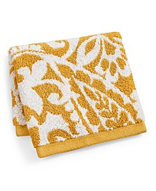 "Elite Scroll Paisley Cotton 13"" x 13"" Wash Towel, Created for Macy's"
