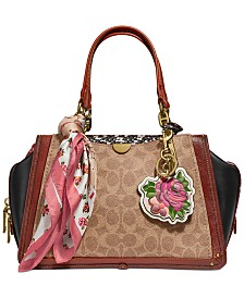 COACH Coated Canvas Signature Dreamer Satchel
