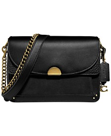 COACH Mixed Leather Dreamer Shoulder Bag