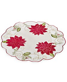 "Kori Holiday Cutwork 16"" Round Placemat"