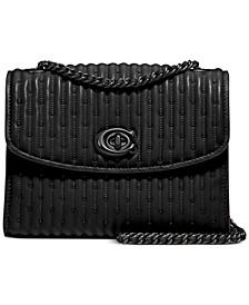 Quilted Parker 18 Leather Shoulder Bag