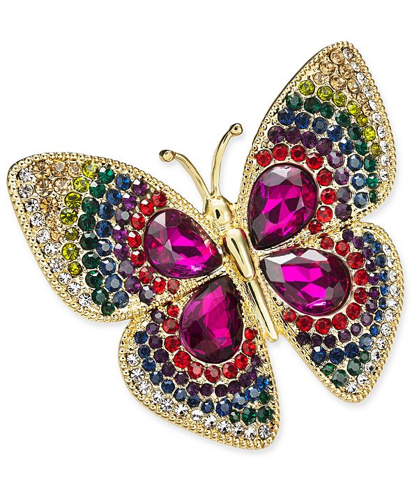 Charter Club Gold-Tone Butterfly Boxed Pin, Created for Macy's