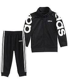 adidas Baby Boys 2-Pc. Tricot Jacket & Jogger Pants Set