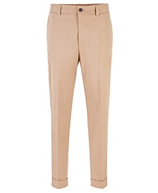 BOSS Men's Perin1 Relaxed-Fit Cropped Trousers