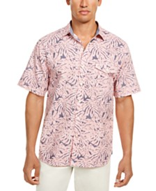 Tommy Bahama Men's Sun Coral Fronds Classic-Fit Tropical-Print Chambray Camp Shirt