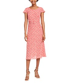 Juniors' Belted Midi Dress