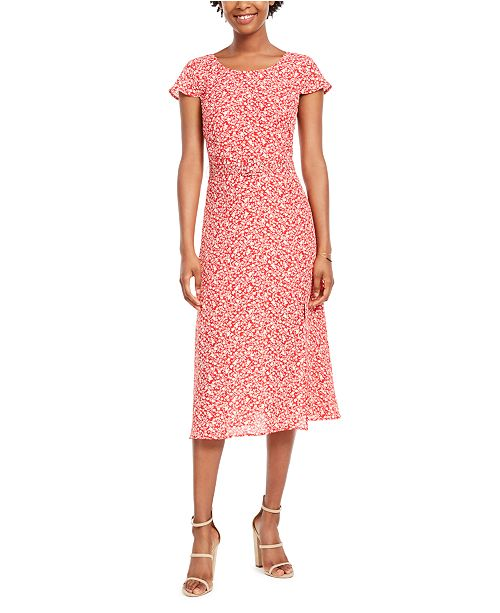 Trixxi Juniors' Belted Midi Dress