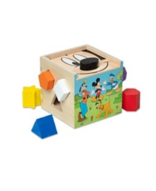 Melissa and Doug Mickey Mouse & Friends Wooden Shape Sorting Cube