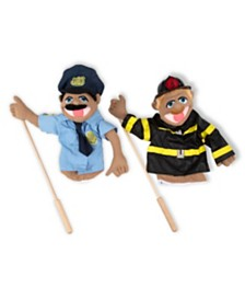 Melissa and Doug Puppet Bundle - Police Officer and Firefighter