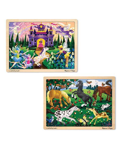 Melissa and Doug Jigsaw Bundle 48pc - Girl 2 Puzzle Bundle