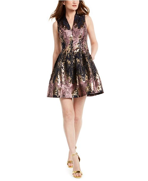 Vince Camuto Petite Brocade Dress