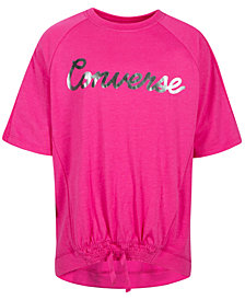 Converse Big Girls Smocked Hem T-Shirt