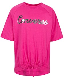 Converse Big Girls Smocked Hem T-Shirt