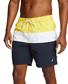 "Men's 9"" Colorblocked Drawstring Swim Shorts"