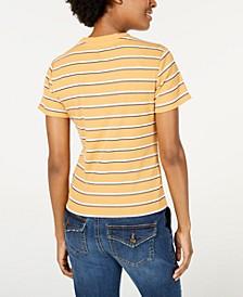 Juniors' Rib-Knit Crew-Neck T-Shirt