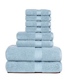 American Dawn Heirloom Manor Sarajane 800 GSM Benzoyl Peroxide Friendly Solid 8 Piece Bath Towel Set