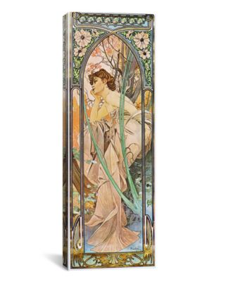 """Evening Reverie, 1899 by Alphonse Mucha Wrapped Canvas Print - 36"""" x 12"""""""