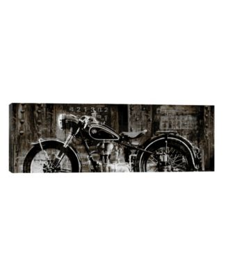 Vintage Motorcycle by Dylan Matthews Wrapped Canvas Print - 12 x 36