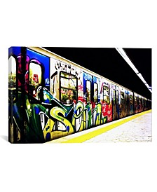 Train Graffiti by Unknown Artist Wrapped Canvas Print Collection
