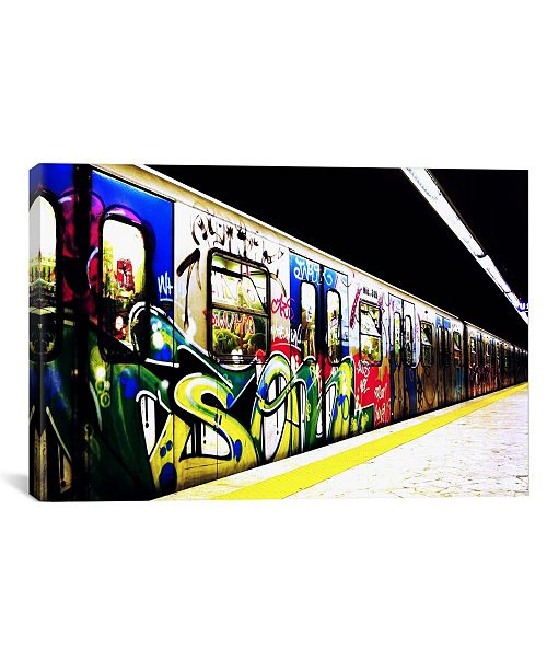 iCanvas Train Graffiti by Unknown Artist Wrapped Canvas Print Collection