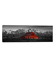 """Barn Grand Teton National Park Wy Usa Color Pop by Panoramic Images Wrapped Canvas Print - 12"""" x 36"""""""
