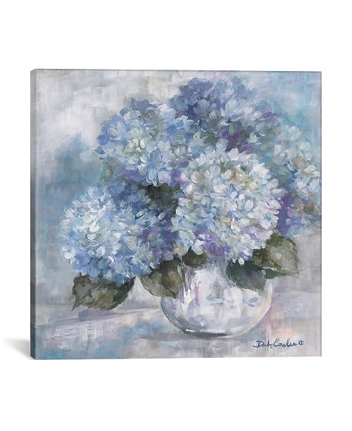 """iCanvas Hydrangea Blues by Debi Coules Wrapped Canvas Print - 18"""" x 18"""""""