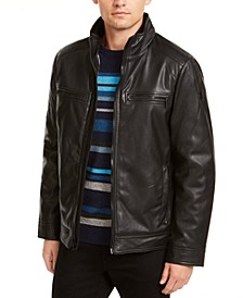 Men's Sherpa Lined Faux Leather Jacket, Created for Macy's