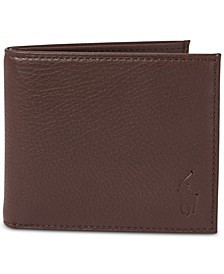 Men's Pebbled Leather Billfold