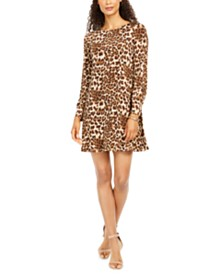 Jessica Howard Petite Animal-Print A-Line Dress