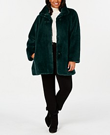 Plus Size Faux-Fur Coat