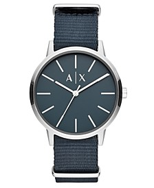 Men's Cayde Blue Nylon Strap Watch 42mm