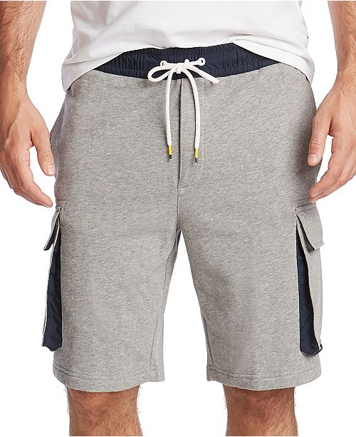 Nautica Men's Blue Sail Cargo Fleece Shorts, Created for Macy's