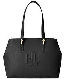 Lauren Ralph Lauren Pebbled Leather Highfield Tote