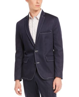INC Men's Slim-Fit Stretch Contrast Stitch Suit Jacket, Created for Macy's