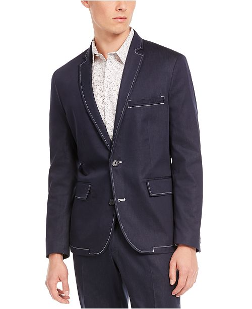 INC International Concepts INC Men's Slim-Fit Stretch Contrast Stitch Suit Jacket, Created for Macy's